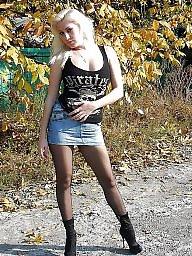 High heels, Stockings teens