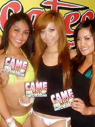 Party, Girl, Stockings voyeur, Asian party