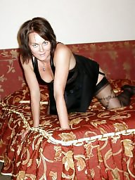 Brunette, Amateur milf, Sexy stockings, Milf stocking
