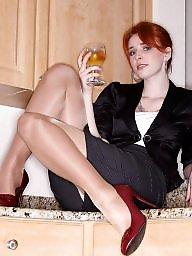 Stockings, Dress, Heels, High heels, Dressed, Teen nylon