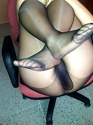 Nylon, Feet, Nylon feet, Nylons, Work, Amateur nylon