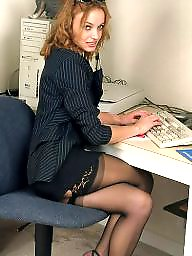 Upskirt, Office, Upskirt stockings, Hairy upskirt
