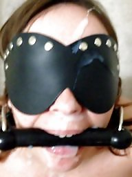 Bdsm, Gagged, Gagging, Balls, Milf facial, Amateur facial