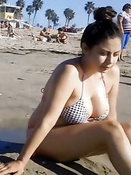 Busty, Candid, Cleavage, Beach, Candids, Busty big boobs