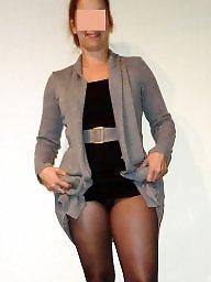 Pantyhose, Panty, No panties, Flash, Heels, Milf upskirt