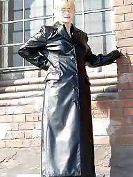 Leather, Boots, Latex, Pvc, Mature porn, Mature leather