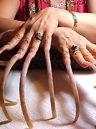 Fingering, Nails, Long nails