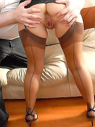 Nylon, Mature nylon, Mature stockings, Stocking, Mature legs, Nylon mature