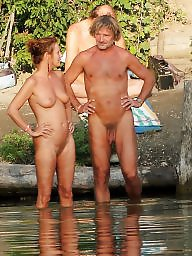 Nude, Mature couple, Mature group