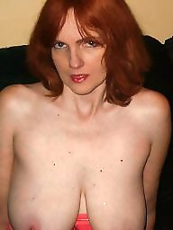 Redhead wife, Milf boobs, Expose