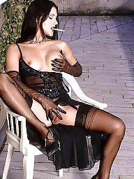 Nylon, Nylons, Lady, Vintage stockings, Upskirt stockings, Relax