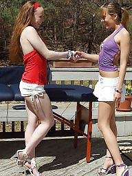 Fisting, Redhead, Fist, Double, Redheads, Brunette teen