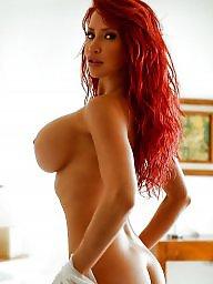 Redhead, Bed, Big boob