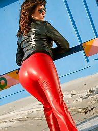Latex, Leather, Pvc, Boots, Boot, Mature leather