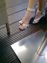 Candid, Candid feet, Milf feet, Candids