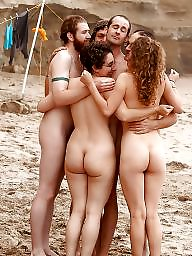 Nudist, Hanging, Nudists, Couple