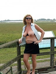 Tease, Mature flashing, Mature flash, Teasing, Women, Mature women
