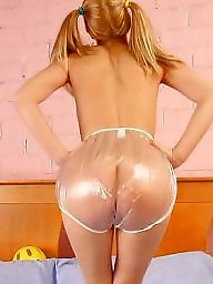 Pvc, Teens, Plastic, Teen ass, Asses