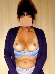 Pierced, Piercing, Big pussy, Flashing tits, Flashing boobs, Big tit milf