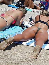 Beach, Beach ass, Girl, Ass beach, Voyeur beach, Girl on girl