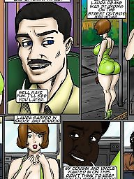 Cartoon interracial, Creampies