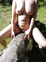 Outside, Mature wife, Amateur wife