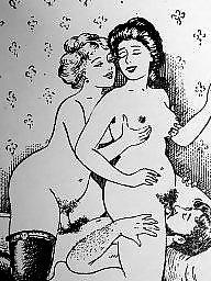 Vintage, Draw, Drawings, Erotic, Vintage cartoon