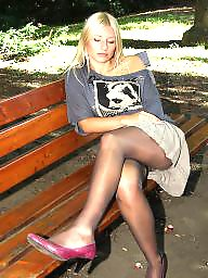 Nylon, Stocking, Street, Amateur nylon, Nylon upskirt, Upskirt stockings