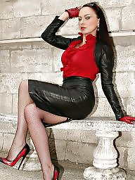 Leather, Lady, Skirt, Tights, Tight, Skirts
