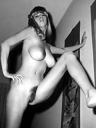Hairy vintage, White, Hairy women, Vintage hairy