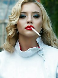 Smoking, Lipstick, Blonde, Smoke, Babes, Love