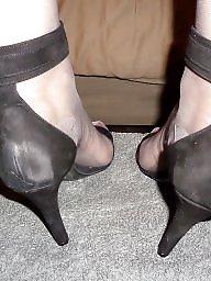 Femdom, Stockings, High heels, Grey, Vintage milf, Tribute