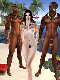 Interracial cartoon, Interracial cartoons, Group, Cartoon interracial, Beach sex, Cartoon sex