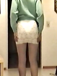 Skirt, Tights, Bitch, Tight, Slutty, White ass