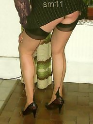 Upskirt, Upskirt stockings, Amateur stockings