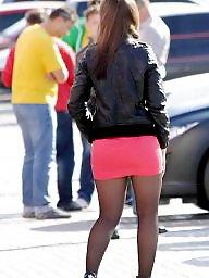 Upskirt stockings, High heels, Heels, Tight, Tights