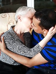Old granny, Kissing, Boys, Old, Mature boy, Kiss