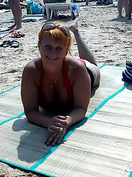 Russian, Beach, Busty, Woman, Russian busty, Russian big boobs