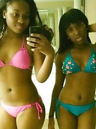 Bikini, Teen bikini, Ebony teen, Black teen