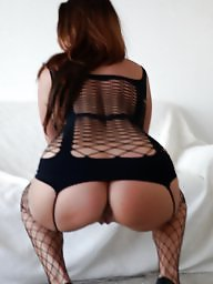 Stockings pussy, Amateur ass