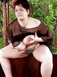 Bbw, Vintage mature, Bbw mature, Outside