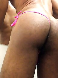 Sissy, Small, Black cock, Small ass, Thongs, Small cock
