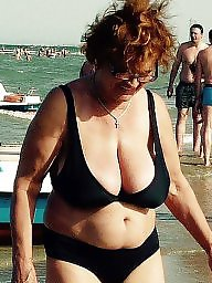Beach, Mature beach, Mature boobs, Beach mature