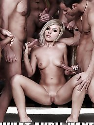 Captions, Gangbang, Caption, Celebrity, Blonde