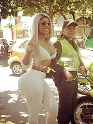 Blond, Latin ass, Colombian