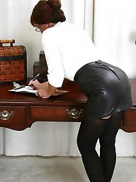 Leather, Tight, Skirt, Tights, Leather skirt