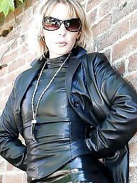 Latex, Rubber, Leather, Pvc, Milf in leather, Mature leather