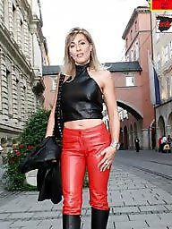 Latex, Pvc, Boots, Leather, Mature porn, Mature leather