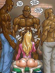 Interracial cartoons, Interracial cartoon