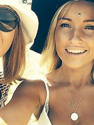 Teen girls, Skype